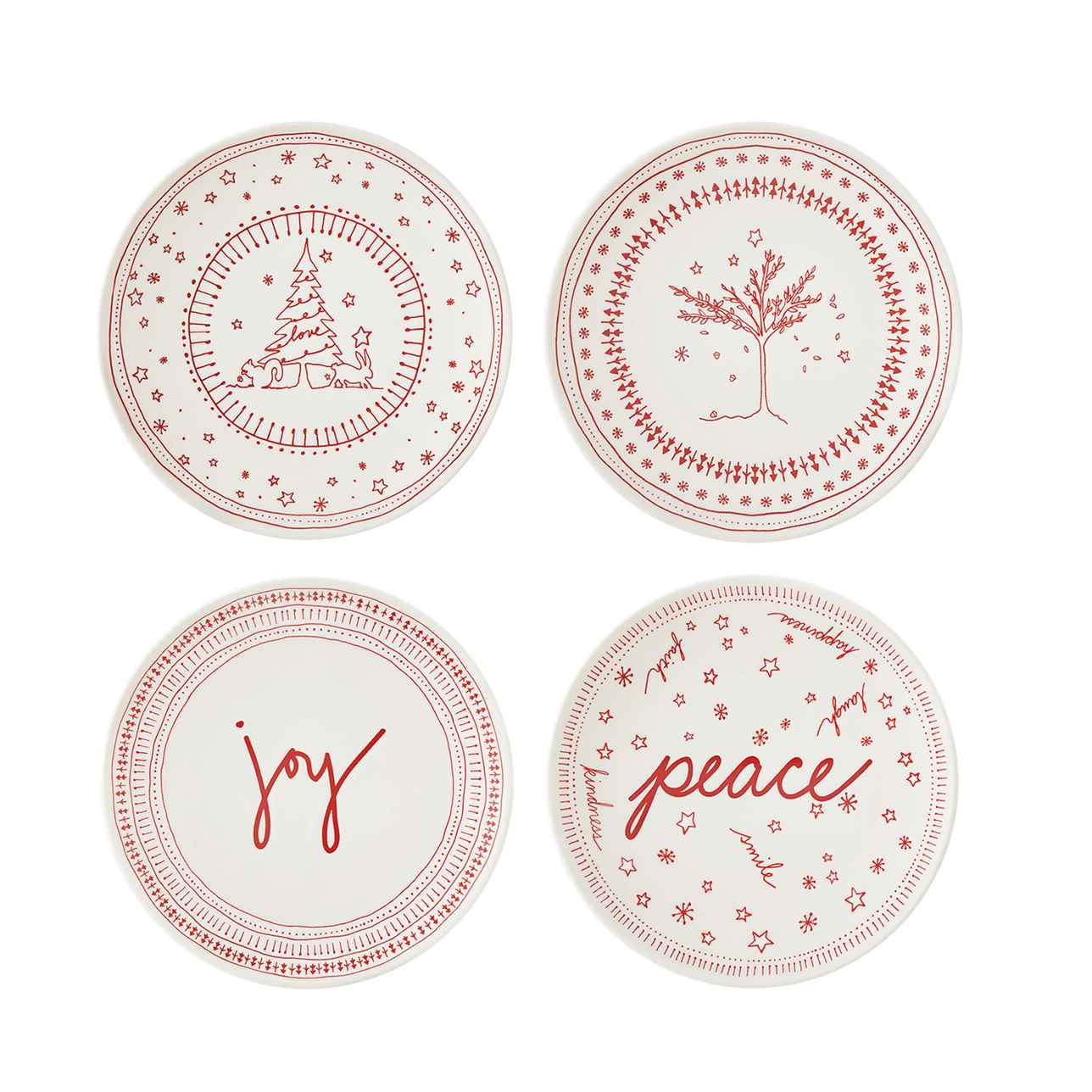 ED Holiday Accent Plate (Set of 4)