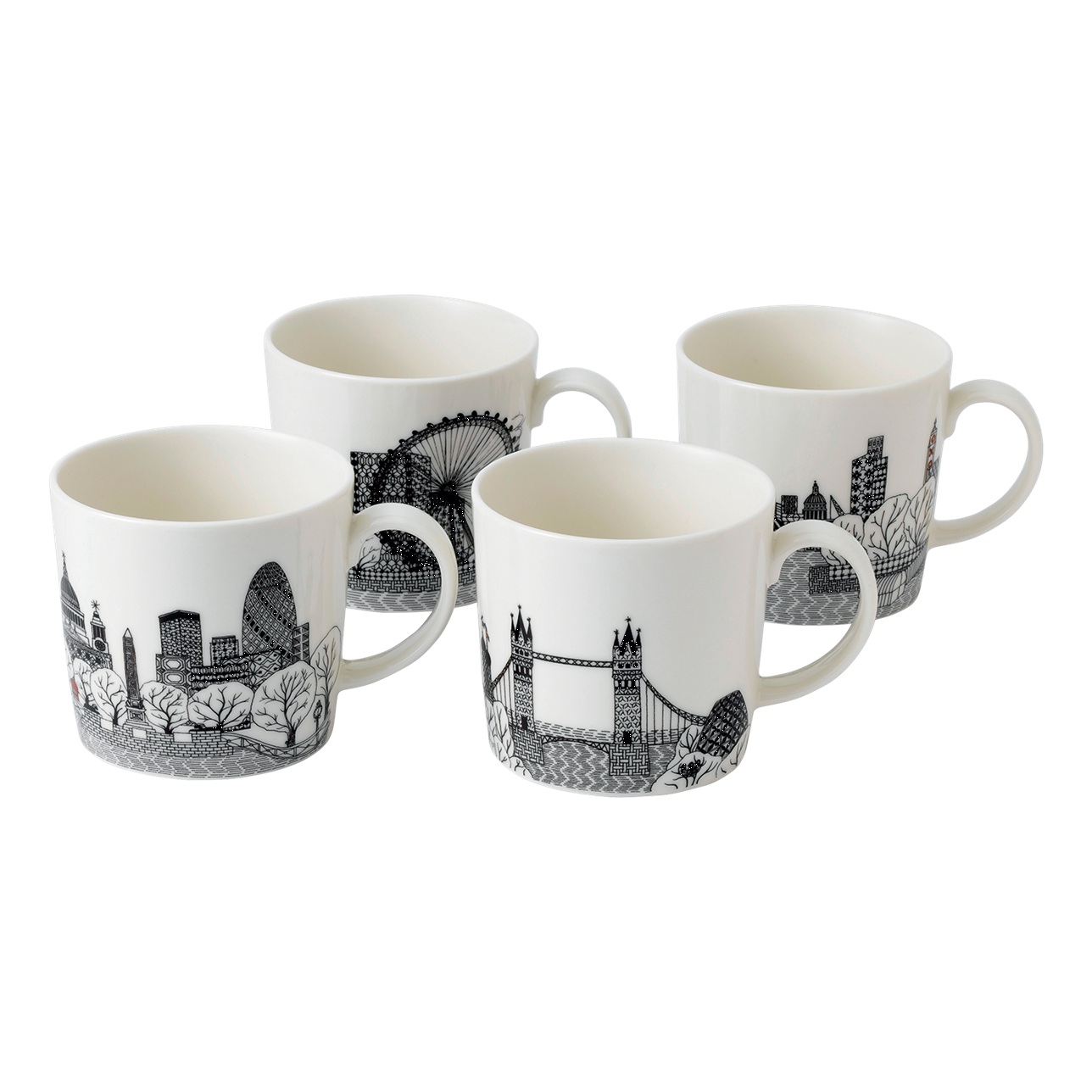London Calling Mugs (Set of 4)