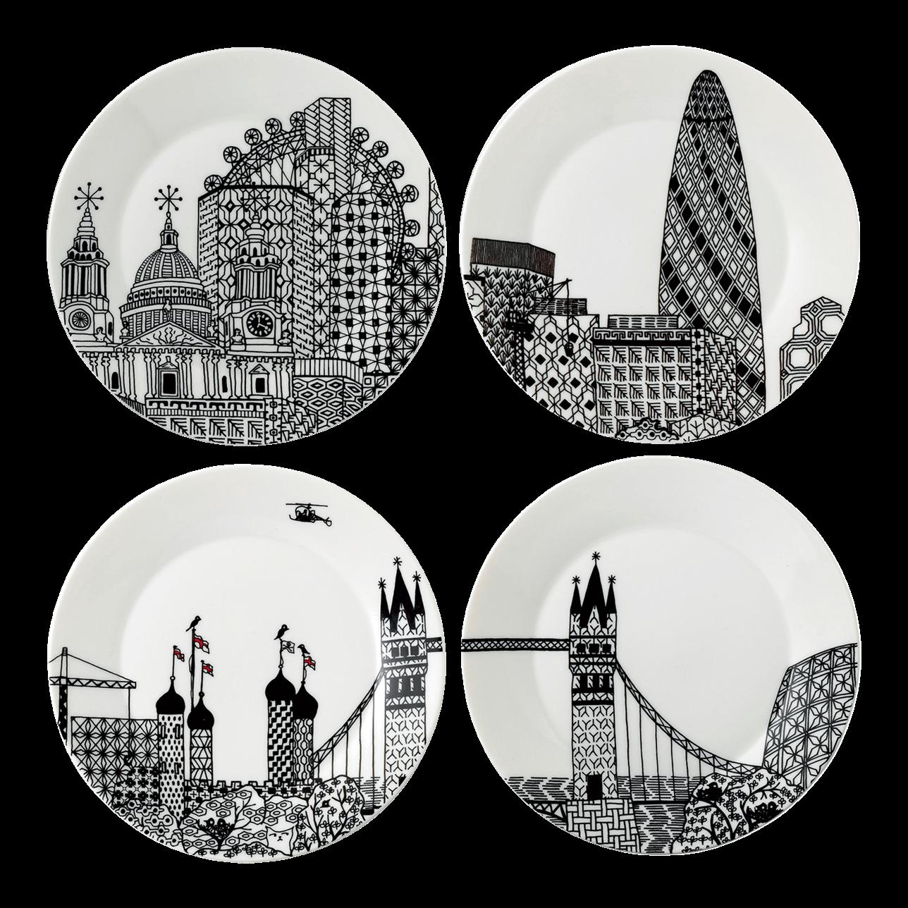 London Calling Side Plates (Set of 4)