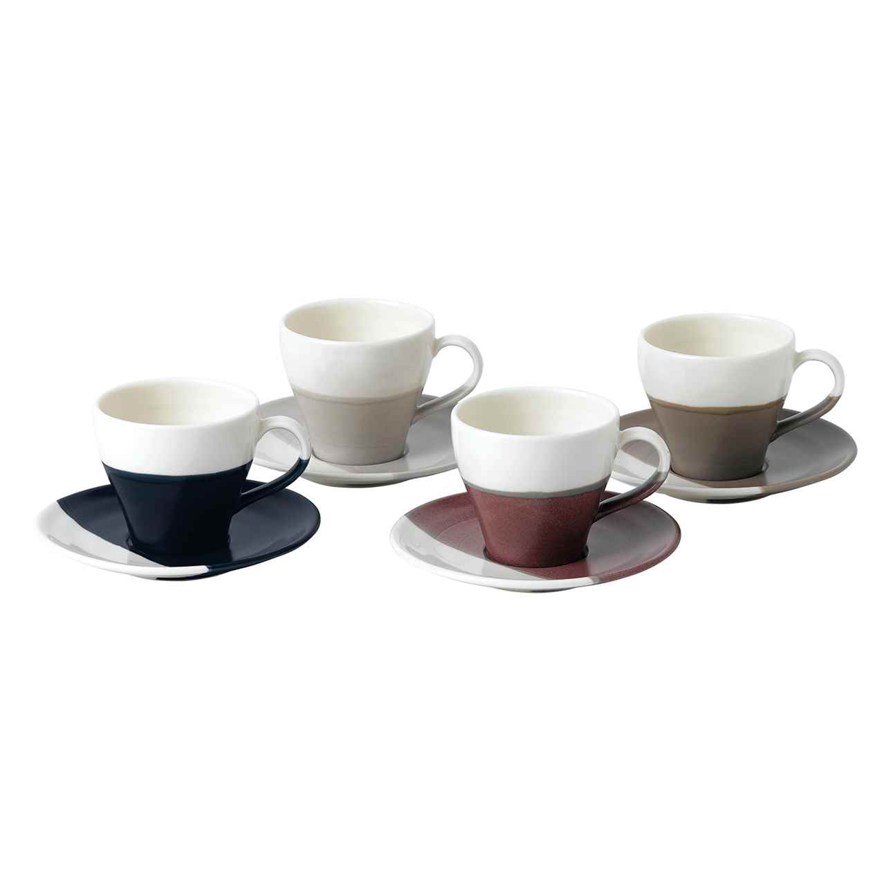 Coffee Studio Espresso Cup and Saucer (Set of 4)