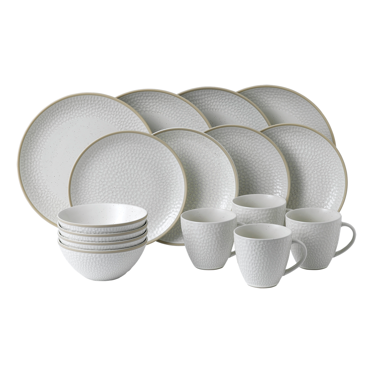 Maze Grill Hammer White 16 Piece Dinner Set