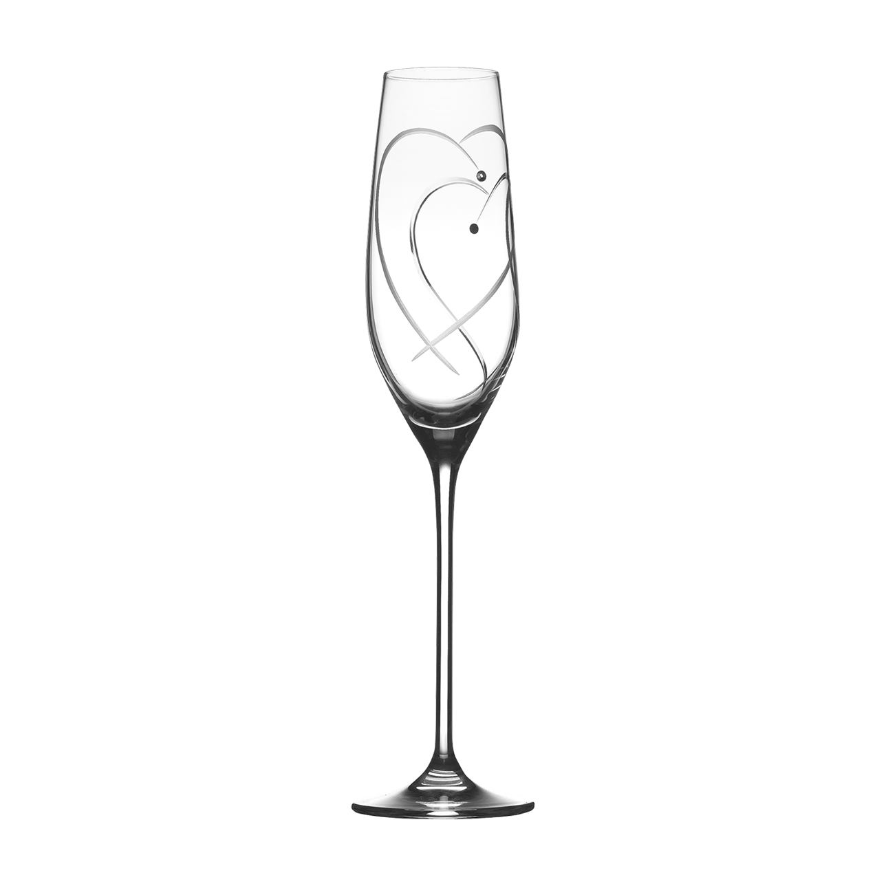 Promises Two Hearts Entwined Champagne Flutes (Set of 2)