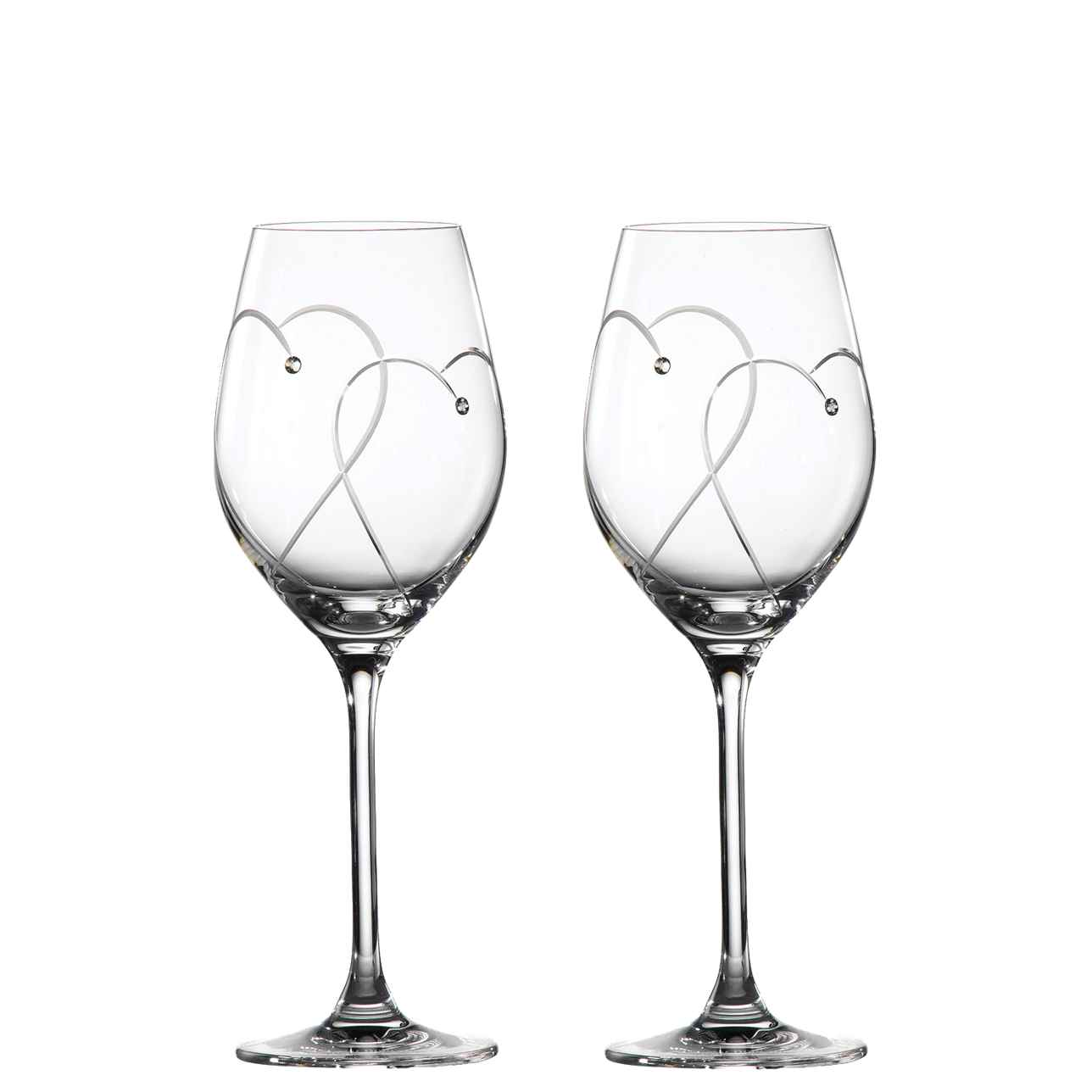 Promises Two Hearts Entwined Wine Glasses (Set of 2)