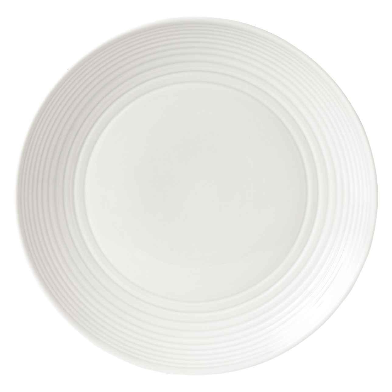 Maze White Dinner Plate