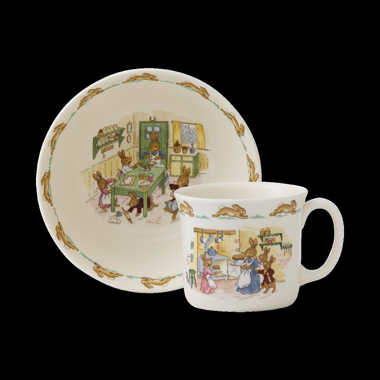 Bunnykins Infant Set: Cereal Bowl and 1 Handled Hug-a-Mug
