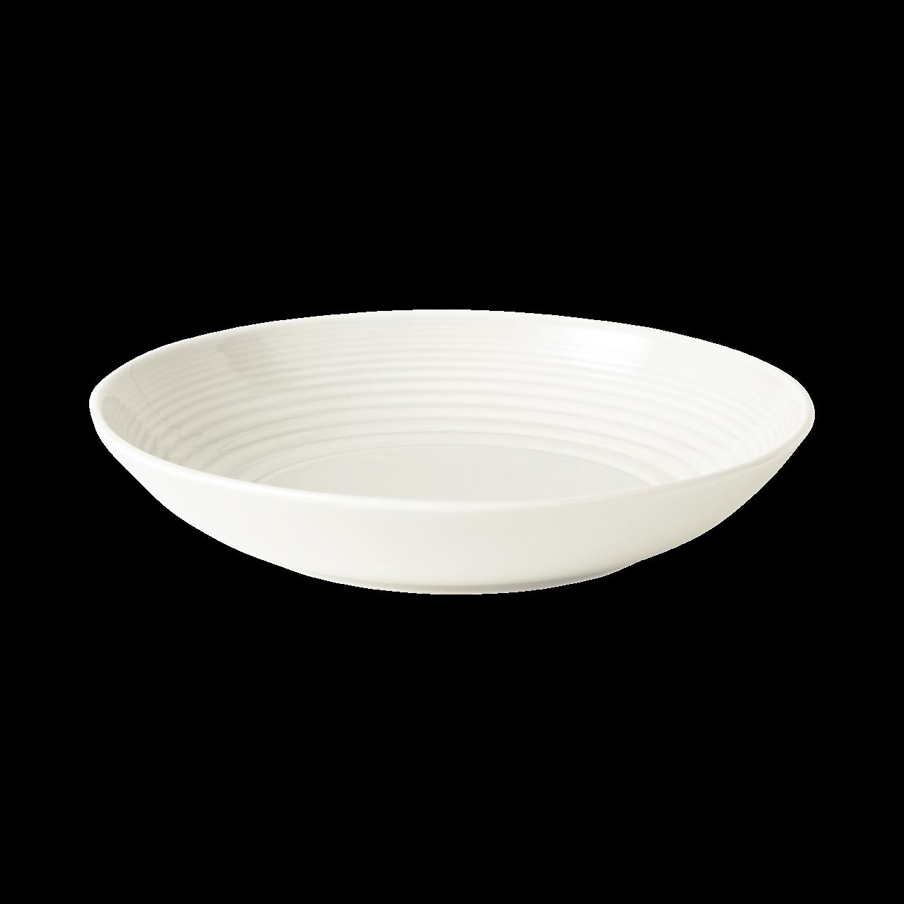 Maze White Pasta Bowl
