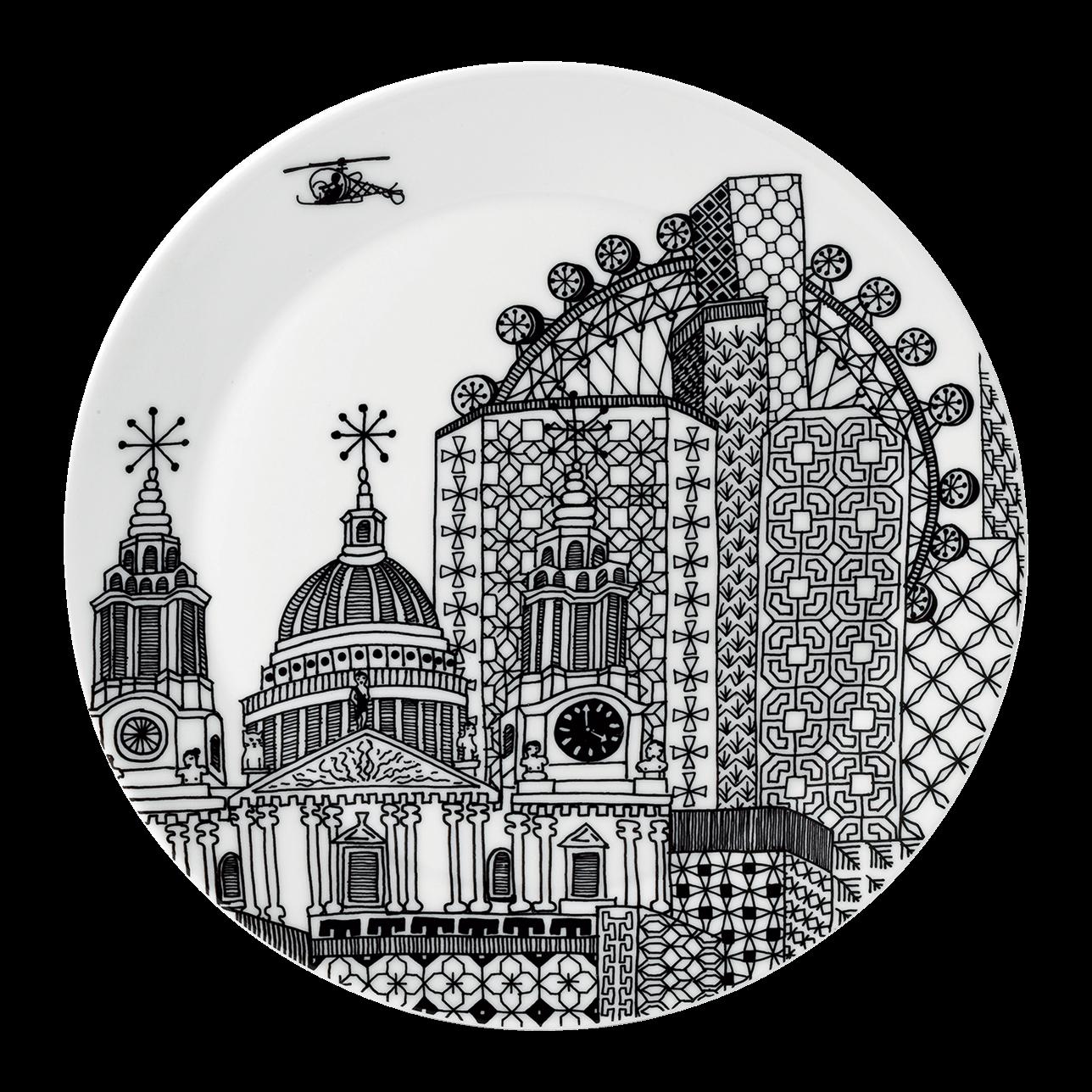 London Calling Large Serving Platter
