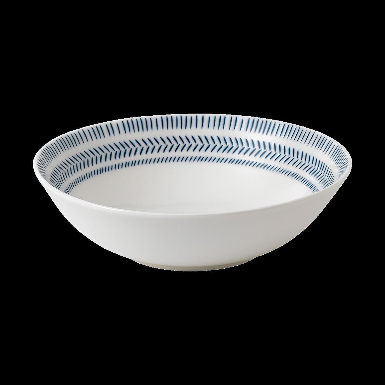 ED Cobalt Blue Chevron Cereal Bowl
