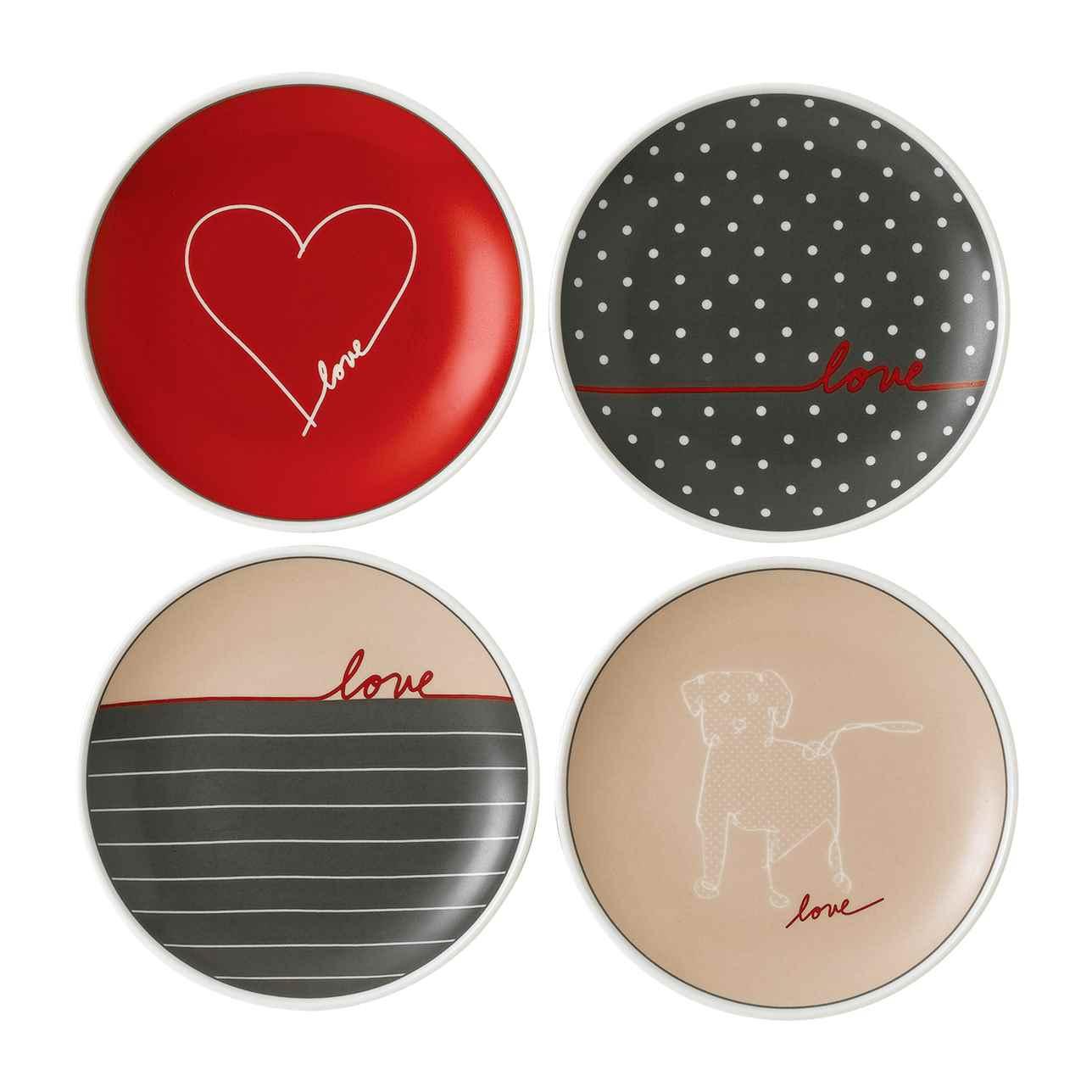 ED Love Signature Accent Plates (Set of 4)