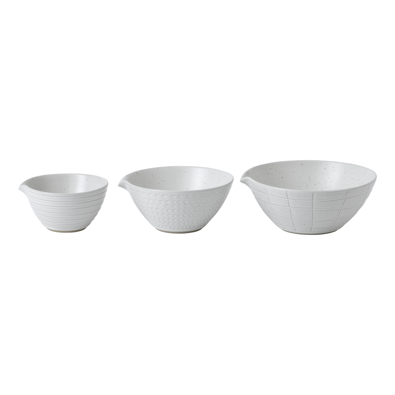 Maze Grill Mixed Pattern White Dipping Bowls (Set of 3)